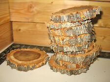 "10 Pc 4"" to 5"" ELM Log Slices Wood Disk Rustic Wedding Centerpiece Coaster Decor"