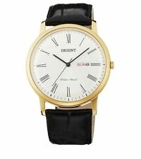 Orient Capital Version 2 FUG1R007W6 White Dial Black Leather Band Men's Watch