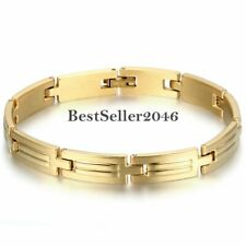9MM Men Women Stainless Steel Link Chain Bangle Bracelet Jewelry Gift 8.4""