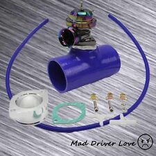 "NEO CHROME BOV BLOW OFF VALVE 30PSI+3"" SILICONE COUPLER UNIVERSAL FIT FOR 300ZX"