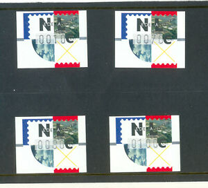 Netherlands Vending machine stamps 4 values made by Frama