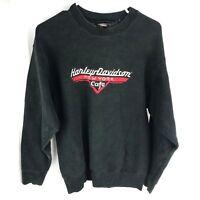 1980s Harley Davidson Sweatshirt New York City Black Men's Medium Distressed