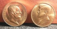 Beautiful No Date Abraham Lincoln and John F. Kennedy Inauguration Medals Token