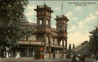 Cleveland OH Euclid Beach Park Scenic Railway c1910 Postcard