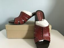 Naturalizer Red With Studs Sandal Size 7.5