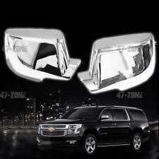 For 14-16 Chevy Suburban Chrome Plate ABS Plastic Full Mirror Cover Cap Trim