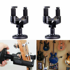 2x Electric Guitar Hanger Stand Holder Wall Mount Rack Hooks Ukulele Bass Banjo