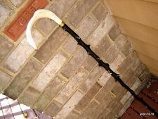 original white STAG DEER ANTLER  Cane/walking-stick black knobby WILD APPLE~gift