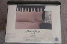 Eddie Bauer Khaki Tan Bed Sheet Set, Brushed Cotton Flannel King Size 4-Pcs