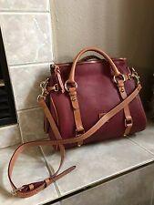 Dooney & Bourke Florentine Medium Tassel Satchel Bag CrimsonT Moro Purse Handbag