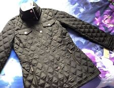MICHAEL KORS - WOMENS FLEECE COLLARED QUILTED JACKET SIZE XS - RRP £235 BNWT