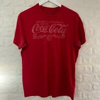 VINTAGE Coca Cola Mens T Shirt Small Red Logo Graphic Tee