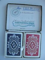 2 Vintage decks of FERD PIATNIK & SONS Playing Cards.