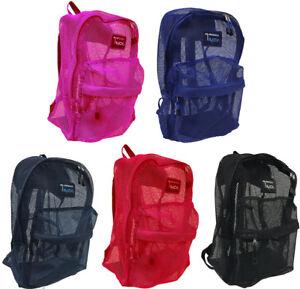 "NEW ""Track"" See Through Mesh Backpack / Book Bag / School /Hike /Travel Backpack"