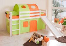 Grüne Rutsche Kinder-Bettgestelle ohne Matratze aus Kiefer