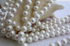 10,5-11,5 mm AA rund Zuchtperlen Strang Süßwasser Perle Schmuck Halskette Kette