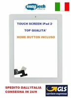 TOUCH SCREEN Apple iPad 2 A1395 A1396 A1397 3G - WIFI VETRO + TASTO HOME BIANCO