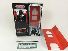 """Custom Vintage Star Wars Regreso del Jedi 12"""" Insertos + Caja De Darth Vader"""