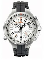 TX T3B881 Mens White Dial Analog Quartz Watch With Rubber Strap