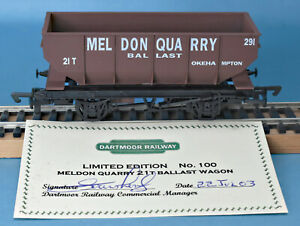 Dapol Dartmoor Railway 21T Meldon Quarry Hopper, Okehampton, Nº: 291 LE of 100