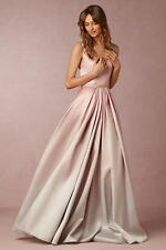 NWT: Lorraine Wedding Dress w/ Pockets (BHLDN $1000) V-Neck Blush Pink Ombre - 0