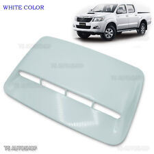 1 White Scoop Fake Turbo Bonnet Cover Toyota Hilux Vigo Champ Mk6 Mk7 2011-2014