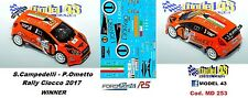 DECAL  1/43 -  FORD  FIESTA R5  -  CAMPEDELLI - Rally CIOCCO  2017