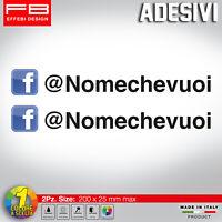 Adesivo Stickers FACEBOOK + SCEGLI IL TUO NOME USER NAME social MOTO AUTO TUNING