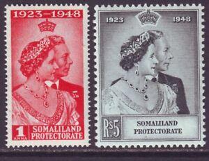 Somaliland 1948 SC 110-111 MNH Set Silver Wedding
