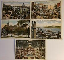 Montreal vintage postcards lot of 5. Valentine & Sons United Publishing