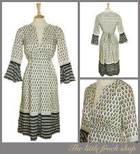MALENE BIRGER CREAM SILK PATTERN INDIAN STYLE DRESS TUNIC SIZE 8  38 US 4