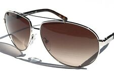 NEW* PRADA Silver 67mm AVIATOR w Tortoise Brown Gradient Sunglasses SPR670  $398