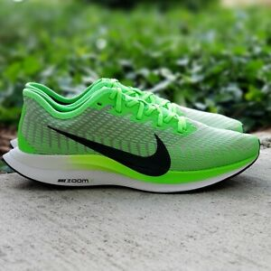 Nike Zoom Pegasus Turbo 2 Mens 10 Electric Green Black AT2863-300 :2706