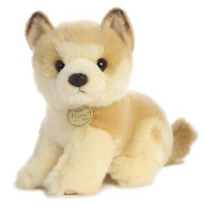 Miyoni Realistic 7-9 inch Akita Puppy Dog Sitting Sit Soft Cuddly AKC AU26239