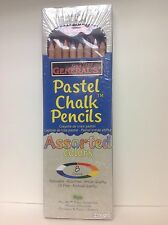 Pastel Chalk Pencils, 8 piece assorted  colors - 4500-8A  - NEW