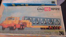 Kibri Faun H0 10122 Tiefladetransport mit Brücke (Rarität) Neuwertig und OVP