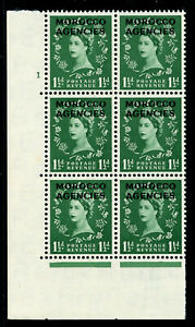 Morocco Agencies 1952 QEII 1½d green Cylinder 1, No Dot Perf type A MNH. SG 103.