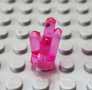 LEGO Translucent Dark Pink 1x1 Rock 5 Point Crystal Friends Minifigure Piece
