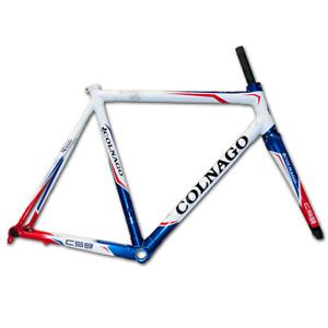 Colnago C59 Italia Carbone Route Frameset 45cm Incliné Blanc Rouge Bleu
