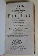 J. H. v. Gerstenberg / C. F. Bahrdt (Hg. , Vorwort): Eden , Varrentrapp , 1772