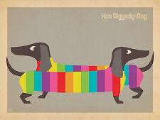 ADVERTISING ART PRINT Mod Rainbow Dogs Anderson Design Group