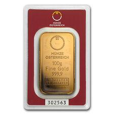 100 gram Gold Bar - Austrian Mint (In Assay) - SKU #78380