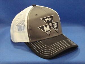 Massey Ferguson Tractor Hat - Black/Charcoal/White Twill & Mesh Tri Logo