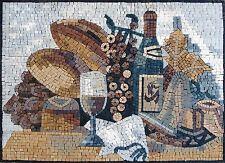 "28""x 20""Handmade Marble Mosaic Pattern Stone Tile Art Kitchen Backsplash Design"