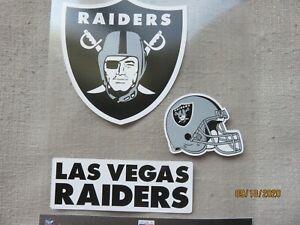 LAS VEGAS RAIDERS STICKERS..LOT OF THREE...NEW ...NFL..