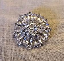 Pinwheel Style Pin Sterling Silver Austrian Crystal