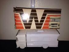 VNTG Avon WINNEBAGO MOTOR HOME, 5 oz, WHITE GLASS, orig. BOX - NIB VINTAGE!