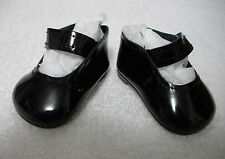 """Fits 17"""" Corolle Toddler Doll - Black Patent Leather Mary Janes - Shoes - D1361"""