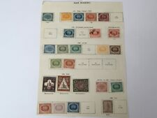 old stamps  SAN MARINO  hinged on page