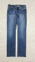 American Eagle Women's Skinny Stretch Distressed Wash Blue Jeans Size 2 Regular